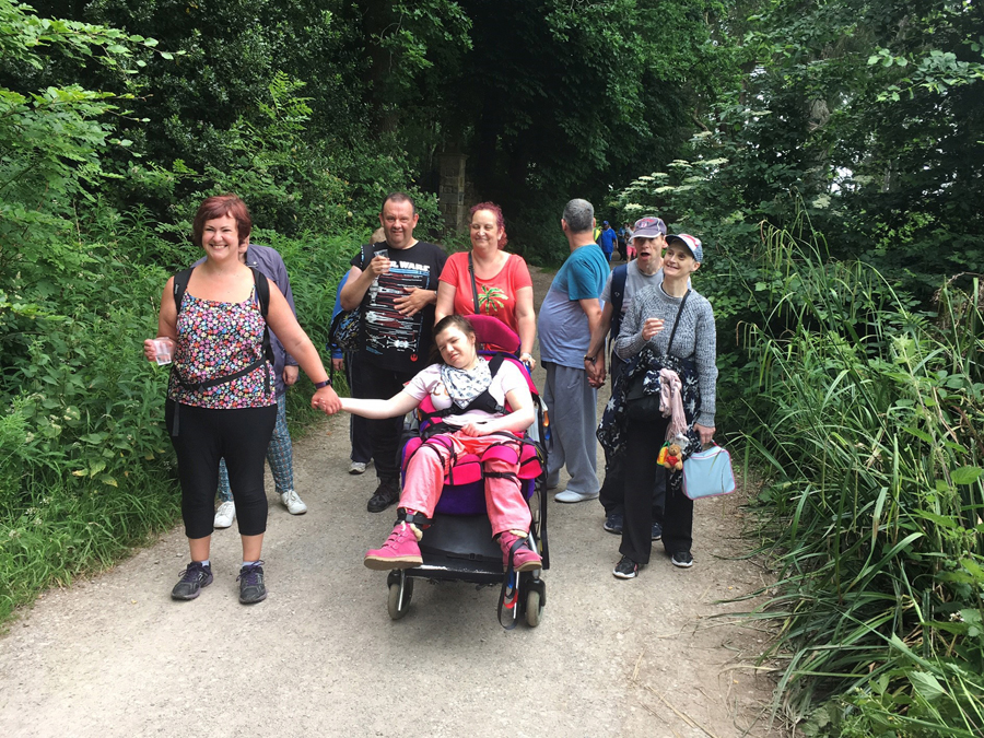 Leeds Learning Disability Week 2017 walking group