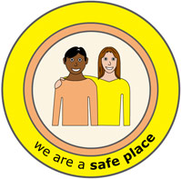 We are a safe place icon