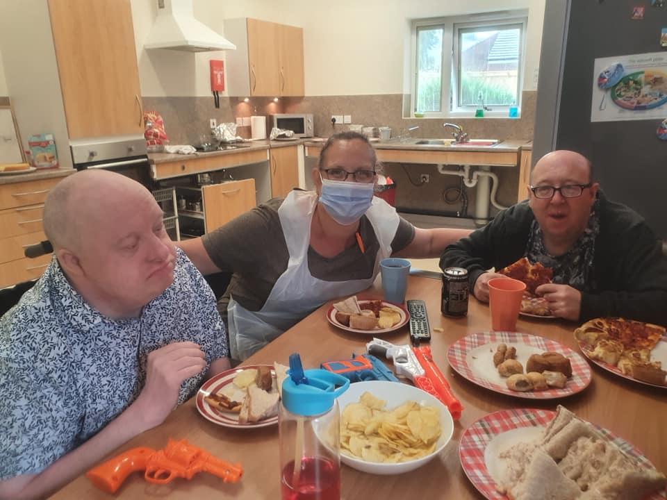Aspire eating together